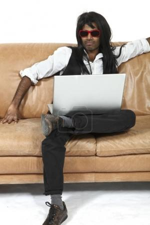 young man on the couch