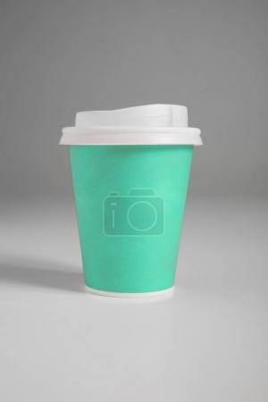 Photo for Paper cups on gray background, colored - Royalty Free Image