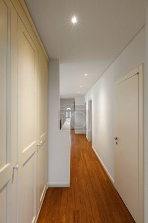 Closeup hallway and parquet