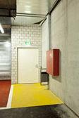 new underground car park, door exit
