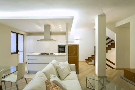 modern architecture, new furnished apartment