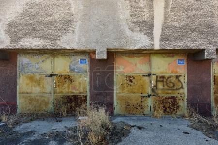 Abandoned garage in Bratislava