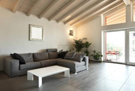 modern living room, large view