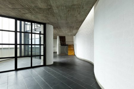 Interior of new modern house is not furnished