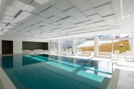 Covered swimming pool in a private residence