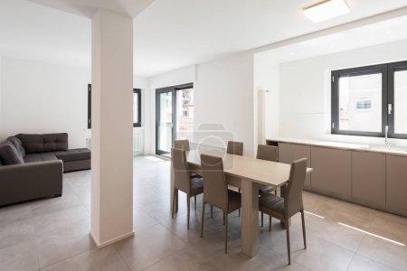 Minimal kitchen in a modern apartment