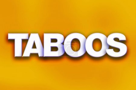 Taboos Concept Colorful Word Art