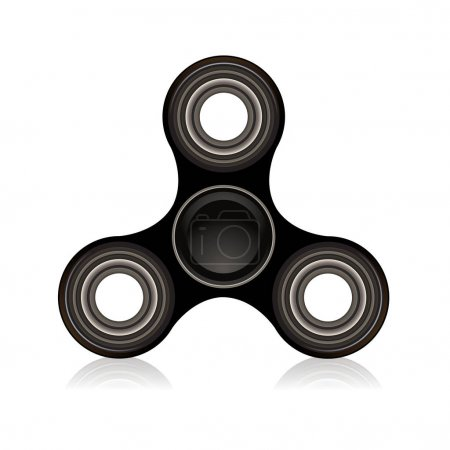 Black Fidget Spinner Focus Toy Illustration
