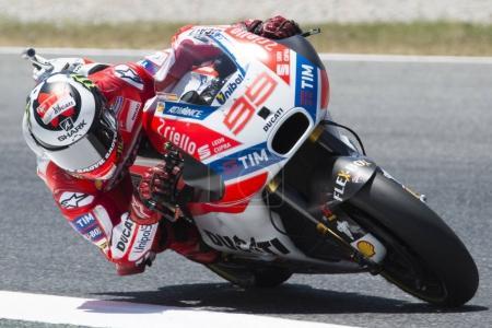 Driver Jorge Lorenzo Ducati Team