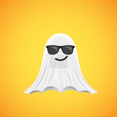 Photo for High-detailed cute ghost emoticon, vector illustration - Royalty Free Image