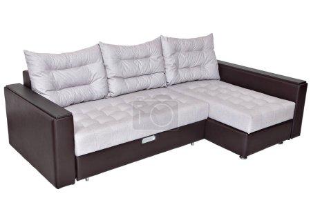 Corner convertible sofa bed with storage system, u...