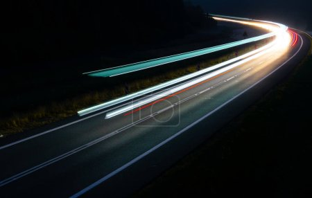 Lights of cars with night. long exposure....