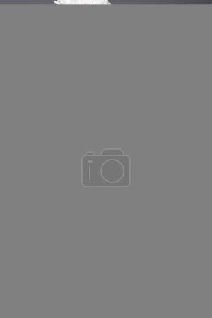 Photo pour Belle femme malade en bonnet tricoté éternuer et tenir des serviettes en papier, isolé sur gris - image libre de droit
