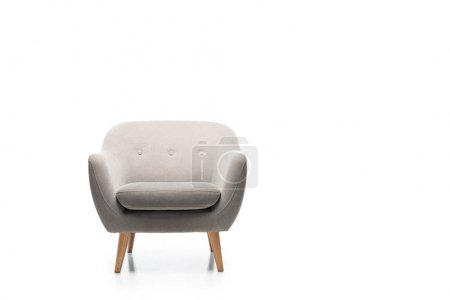 Photo for Comfortable grey modern armchair isolated on white - Royalty Free Image