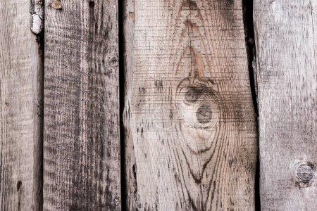 Photo pour Surface altérée en bois naturel texturé gris avec espace de reproduction - image libre de droit