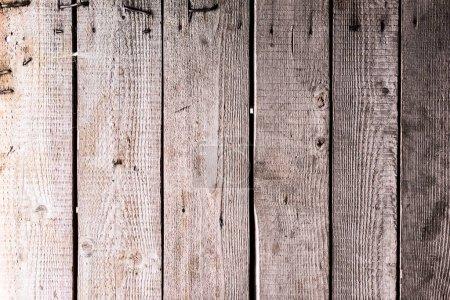 Photo pour Surface grise texturée naturelle en bois altérée avec des clous - image libre de droit