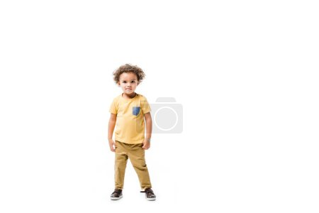 Photo for Little african american boy isolated on white - Royalty Free Image