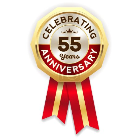 glossy anniversary rosette