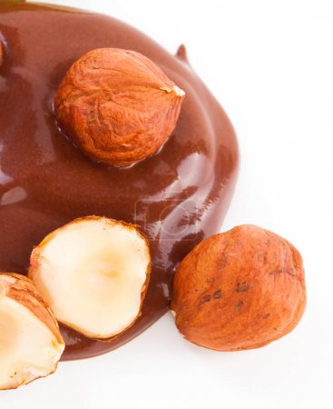 Composition of chocolate and hazelnut