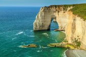Stunning la Manneporte natural rock arch wonder,Etretat,Normandy,France