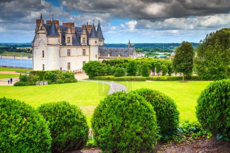 Wonderful famous castle of Amboise, Loire Valley, France, Europe
