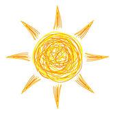 Drawing of sun Vector illustration