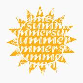 Sun Abstract vector illustration