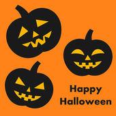 Halloween pumpkins card Vector illustration