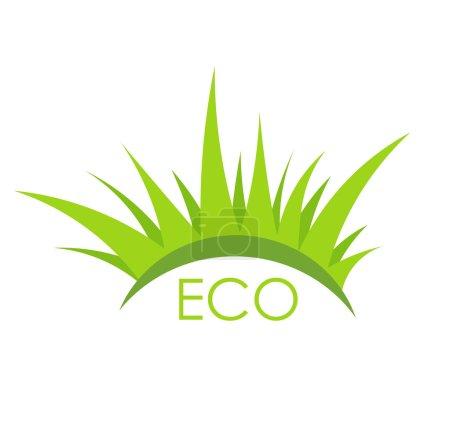 Eco grass vector