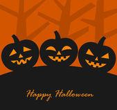 Halloween pumpkins background Vector illustration