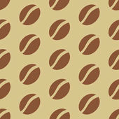 Coffee beans pattern Vector illustration