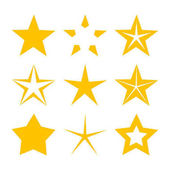 Gold stars icons