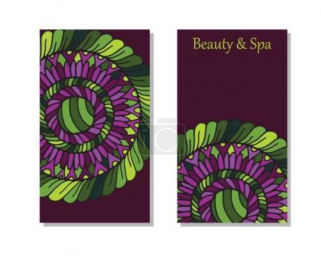 Spa salon card template