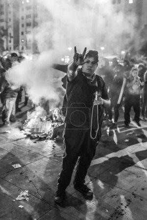 Photo pour La crise au Chili 2019, printemps du Chili - image libre de droit