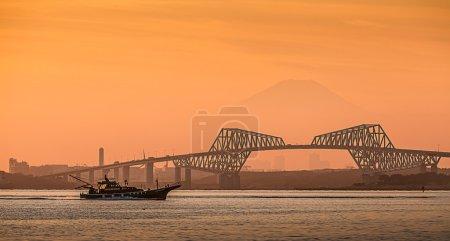 Bridge and Mountain Fuji