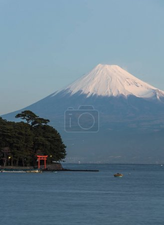 Mountain fuji and Japan sea