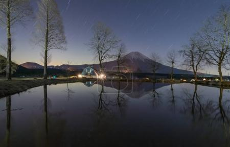 Mountain Fuji and Starry night