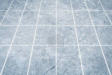 Outdoor stone block tile floor