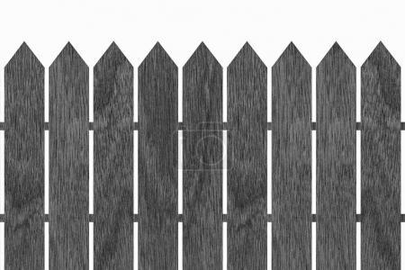 Black wood fence