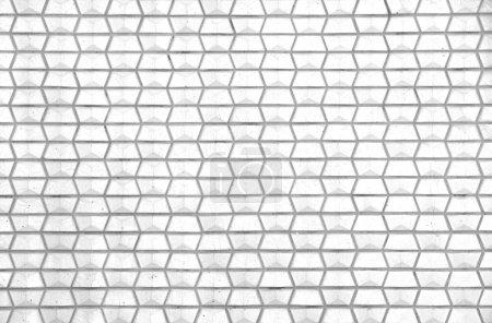 Modern white concrete tiles