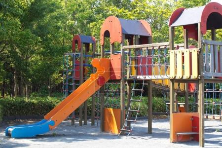 Photo for Children playground at pubic park in summer season - Royalty Free Image