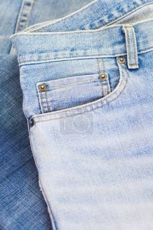 Blue jeans details