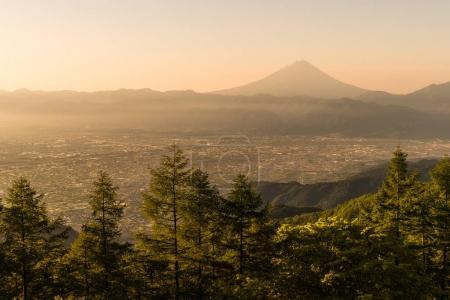 Mountain Fuji  and Kofu city
