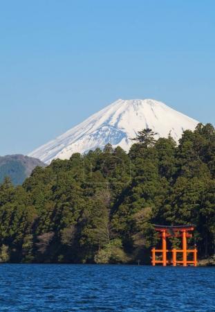 Mountain Fuji and Ashi lake