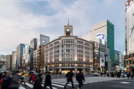Cityscape in the Ginza District