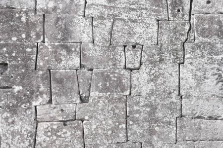 Old stone block wall