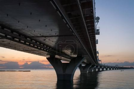 Photo for View of Tokyo Bay Aqua Line in sunset - Royalty Free Image