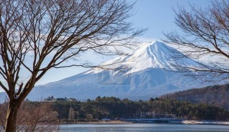 Mt.Fuji at Lake Kawaguchiko in winter