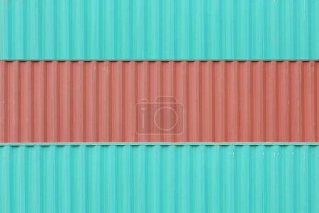 Colorful stack of containers shipping at dockyard