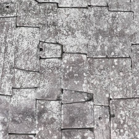 Old stone block wall, seamless background and texture